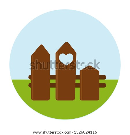 wooden fence fence with heart