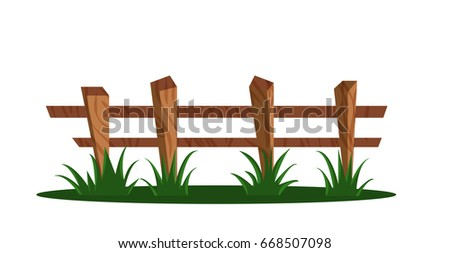 Picket Fence Cartoon Vectors Download Free Vector Art Stock - Cartoon fence clip art