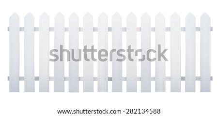 wooden fence white   vector