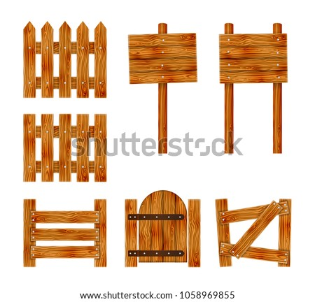 wooden fence with a gate and