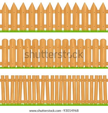 wooden fences  vector
