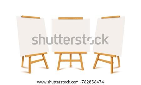 wooden flip charts set