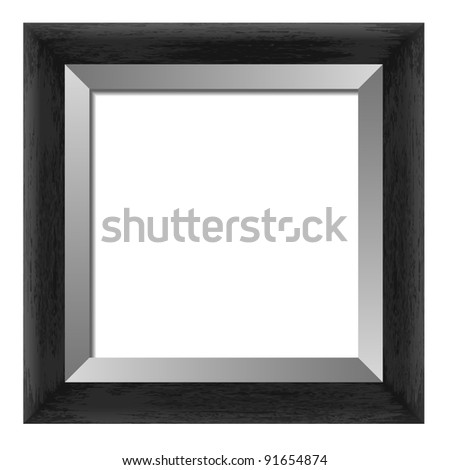 wooden frame for painting or picture on a white background