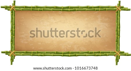 wooden frame made of green