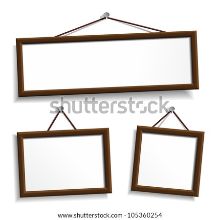 Hanging blank picture frames - Download Free Vector Art, Stock ...