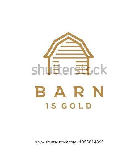 wooden gold barn farm