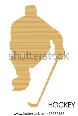 wooden hockey poster