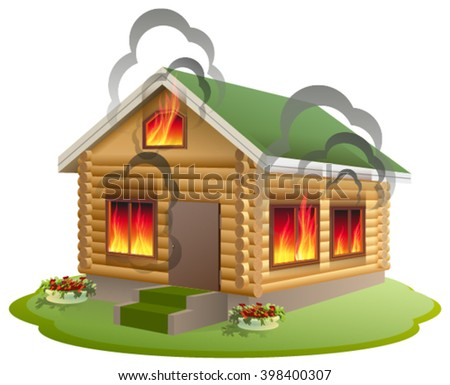 Isolated House On Fire Download Free Vector Art Stock Graphics