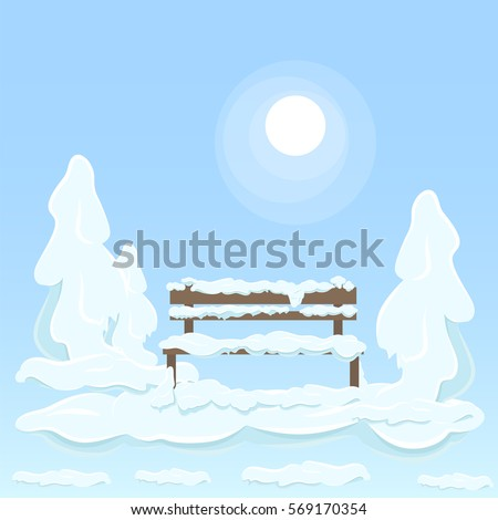 wooden isolated bench under