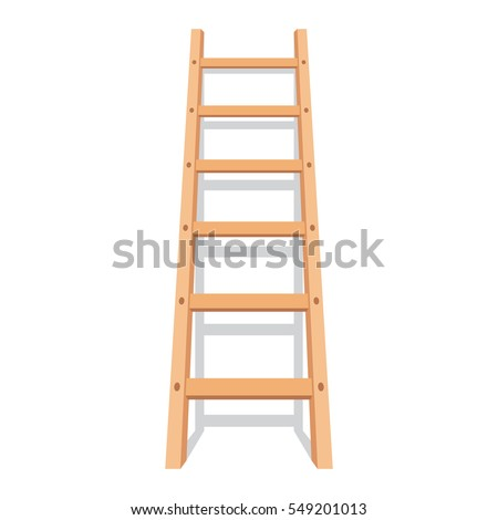 wooden ladder with shadow