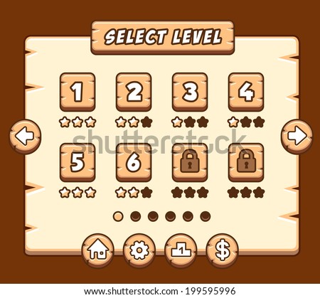 stock-vector-wooden-level-selection-pane