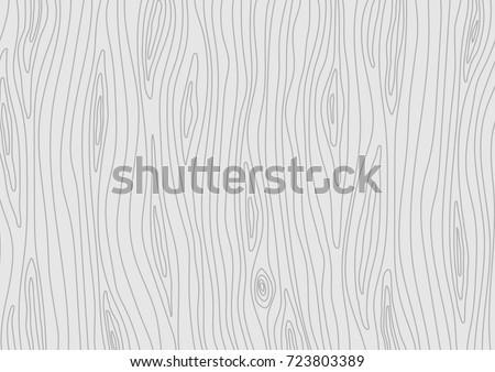 Wooden light grey texture. Vector grain wood background