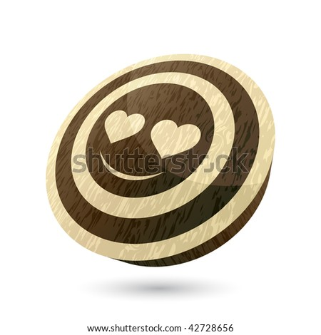Stock Photo wooden love face