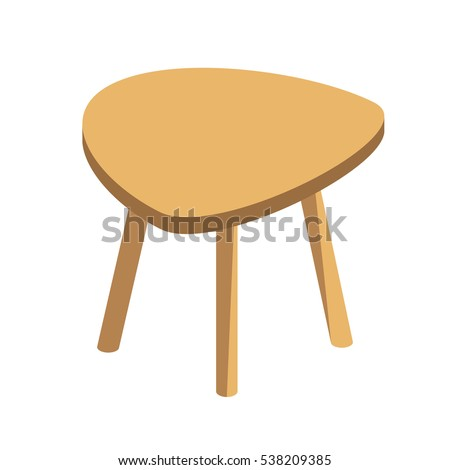 wooden low table with three