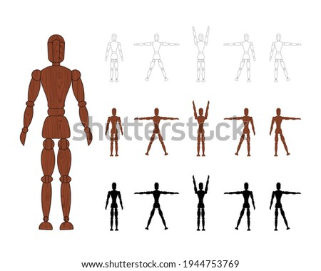 wooden man mannequin collection