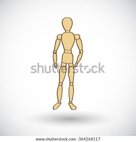 wooden mannequin sketch  hand
