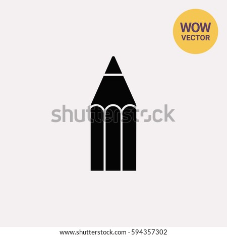 Wooden pencil icon