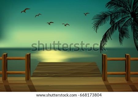 wooden pier overlooking the sea