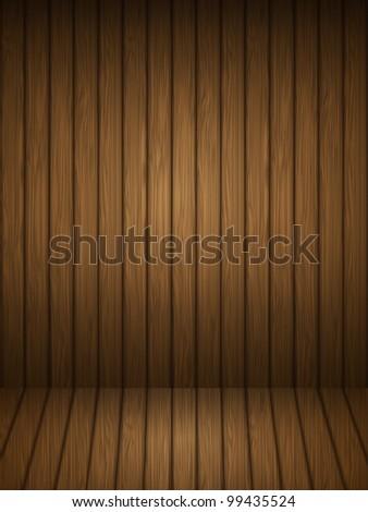 Wooden planks interior. Vector illustration.