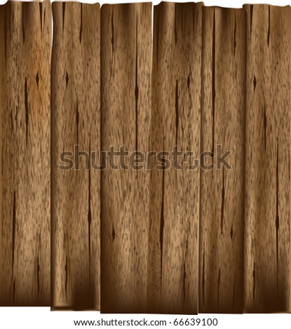 Wooden Planks Vector Background