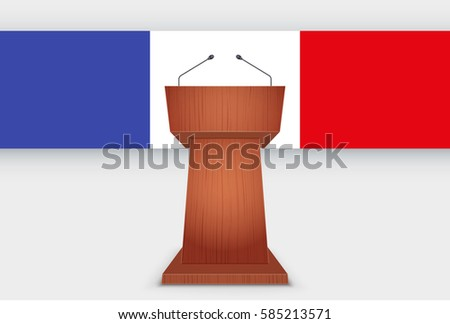 wooden podium speaker tribune
