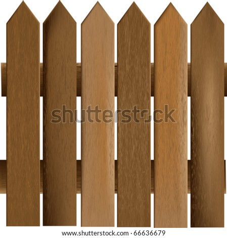 Wooden Railings Vector Background