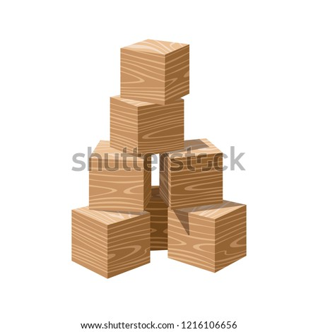 wooden realistic bricks