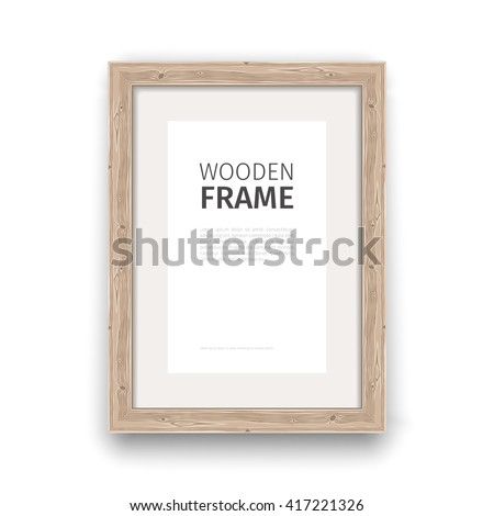 Wooden rectangle Frame. Used pattern brushes included in Brushes panel. Clipping paths included.