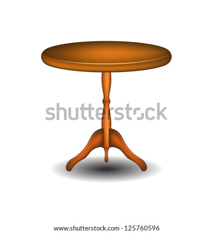 Wooden round table #125760596