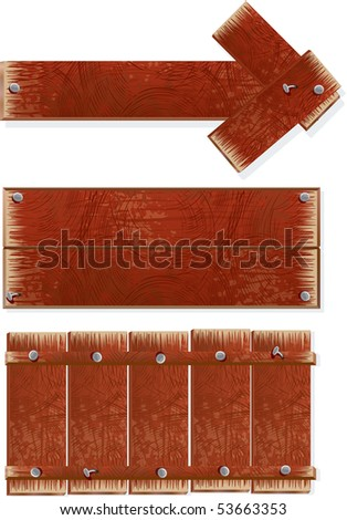 Wooden sign and boards-vector illustration-to see more similar images, please visit my Gallery