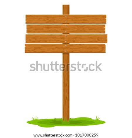 wooden signboard in grass