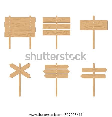 wooden signboards arrow sign