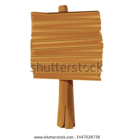 wooden signs board isolated on