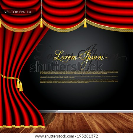 wooden stage  luxury red