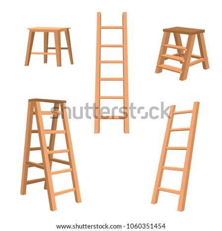 wooden stairs a set of
