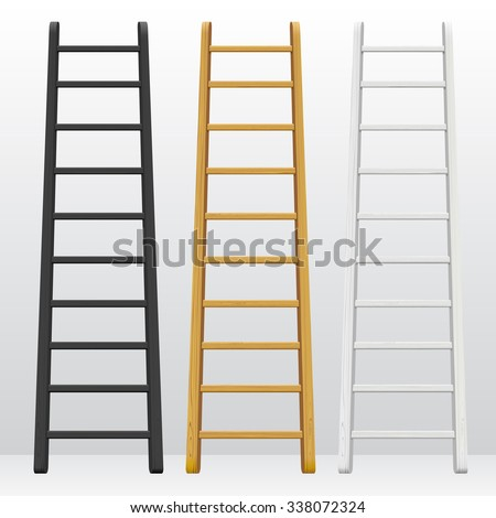 wooden step ladders set of
