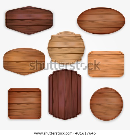 wooden  stickers label