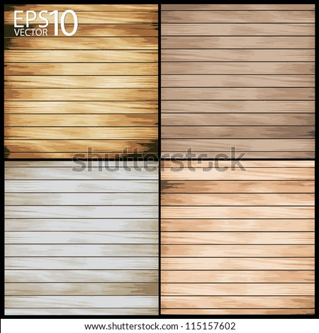 Wooden table Backgrounds, Vector illustration