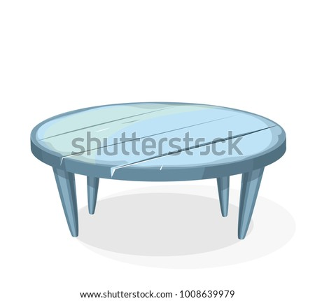 wooden table round vector clipart