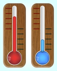 Wooden thermometers, 10eps.