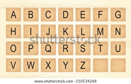 Scrabble Letter Tiles Set Download Free Vector Art Stock