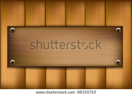 wooden vector template