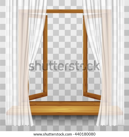wooden window frame with