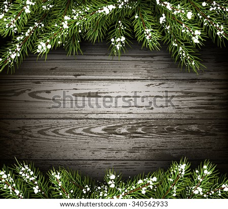 wooden winter background with