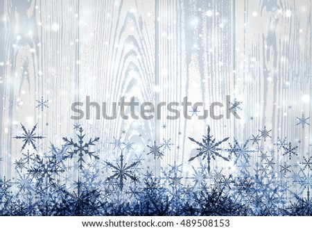 wooden winter light background