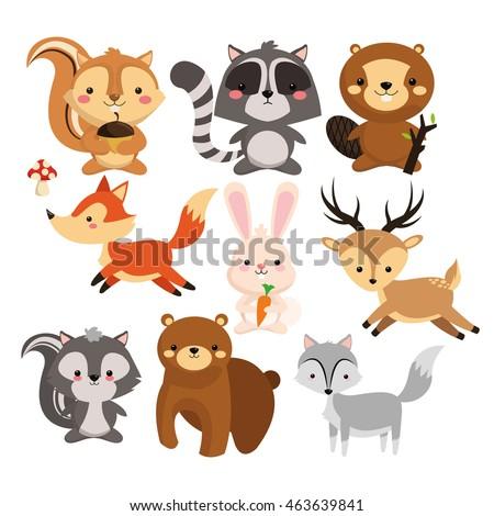 woodland animal concept