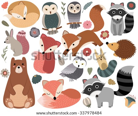 woodland animals and cute