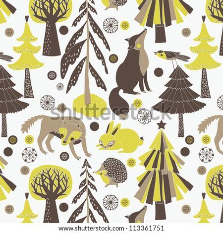 woodland animals and habitat