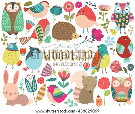 woodland animals and whimsical