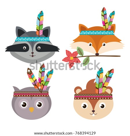 woodland animals with feather